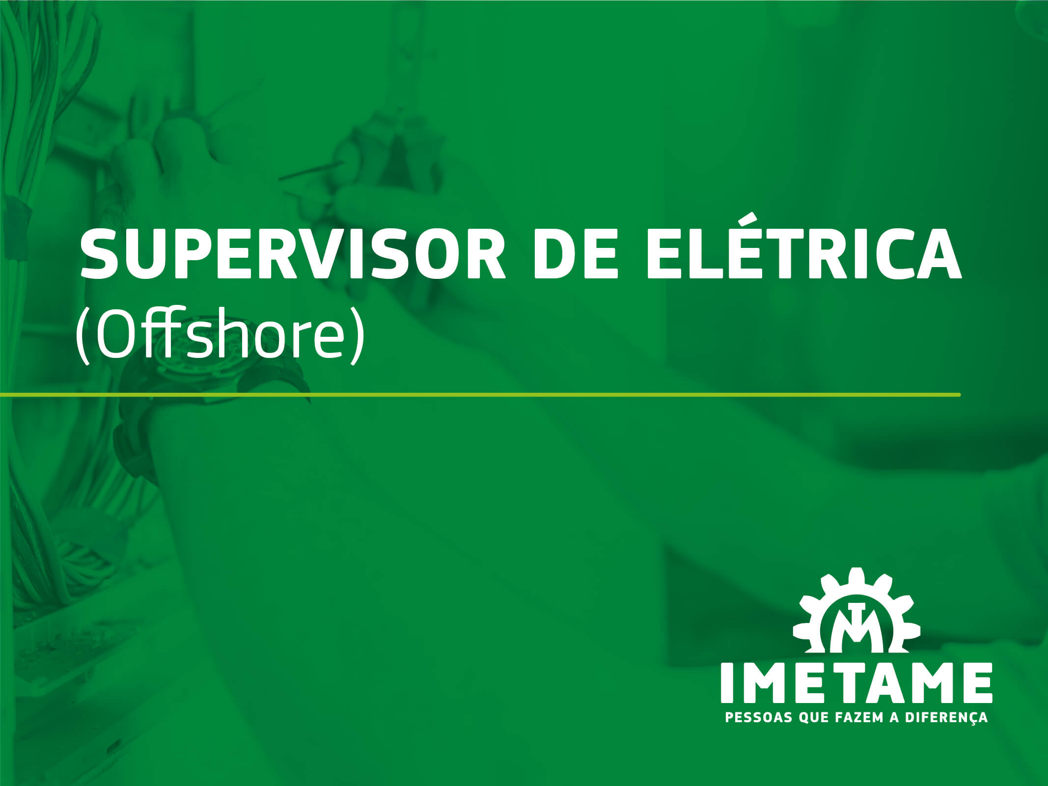 Supervisor de Elétrica – Offshore