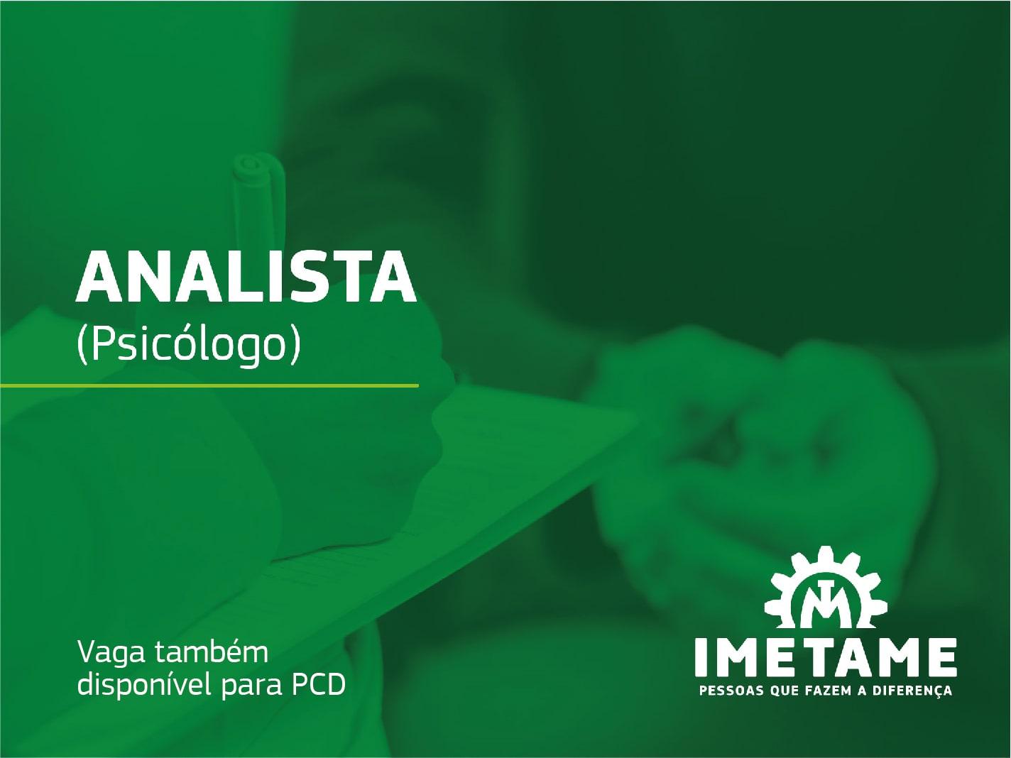 Analista – Psicólogo