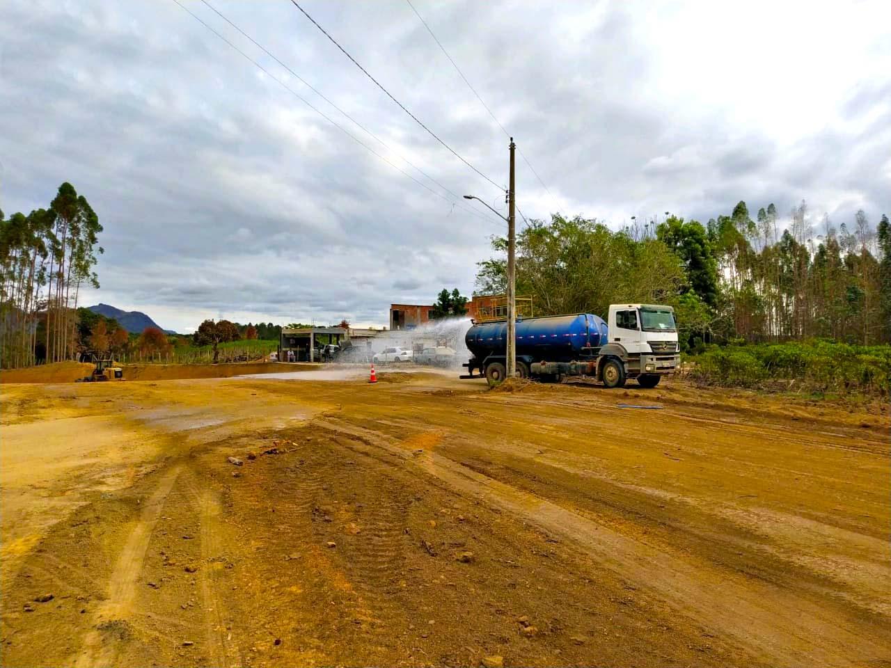 Andamento das obras da estrada do Contorno Norte Aracruz
